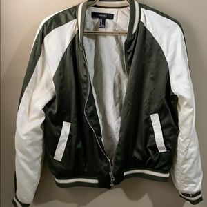 Green and white jacket